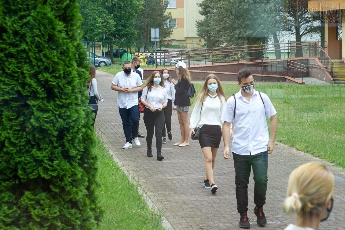 Uczniowie przystępujący do egzaminy ósmoklasisty