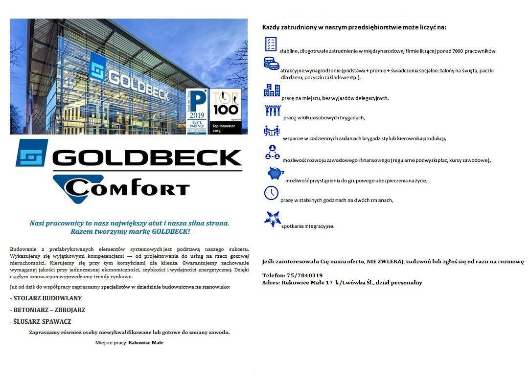 Oferty Pracy Goldbeck Comfort