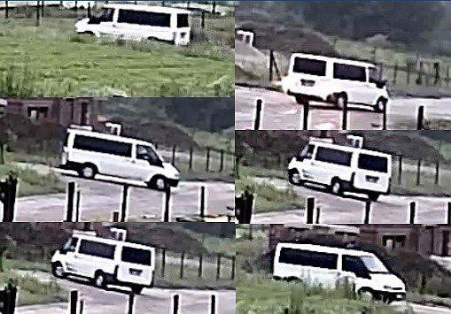 Zdjęcia busa z innego, oddalonego monitoringu.