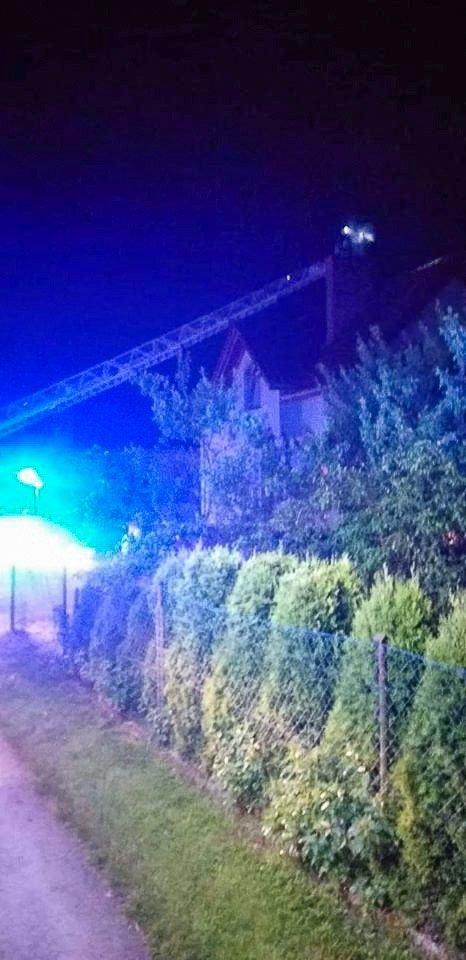 Akcja straży pożarnej w Ocicach