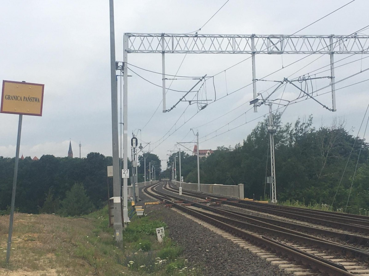 Akcja straży granicznej na moście w Zgorzelcu