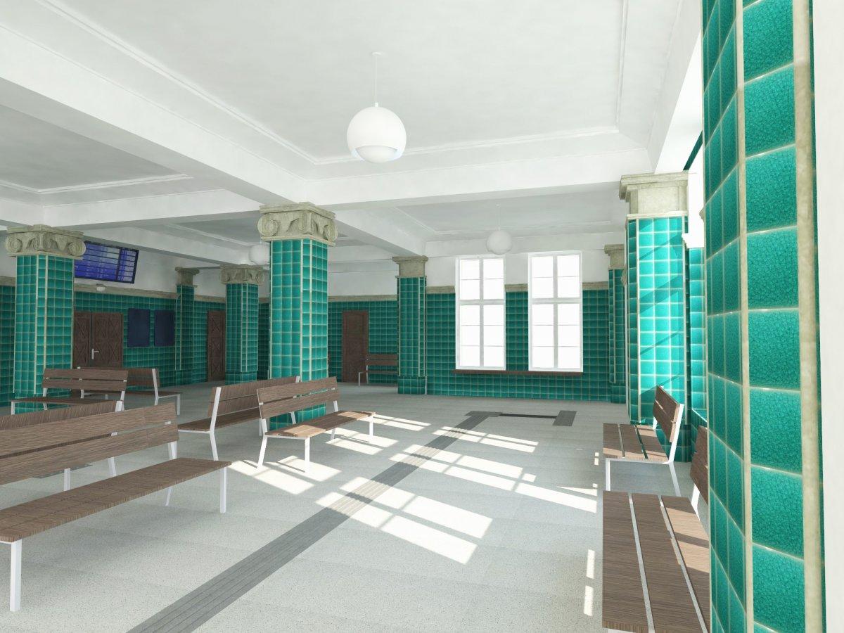 Dworzec PKP w Bolesławcu po przebudowie - wizualizacja