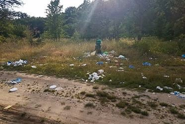 Śmieci na Krępnicy