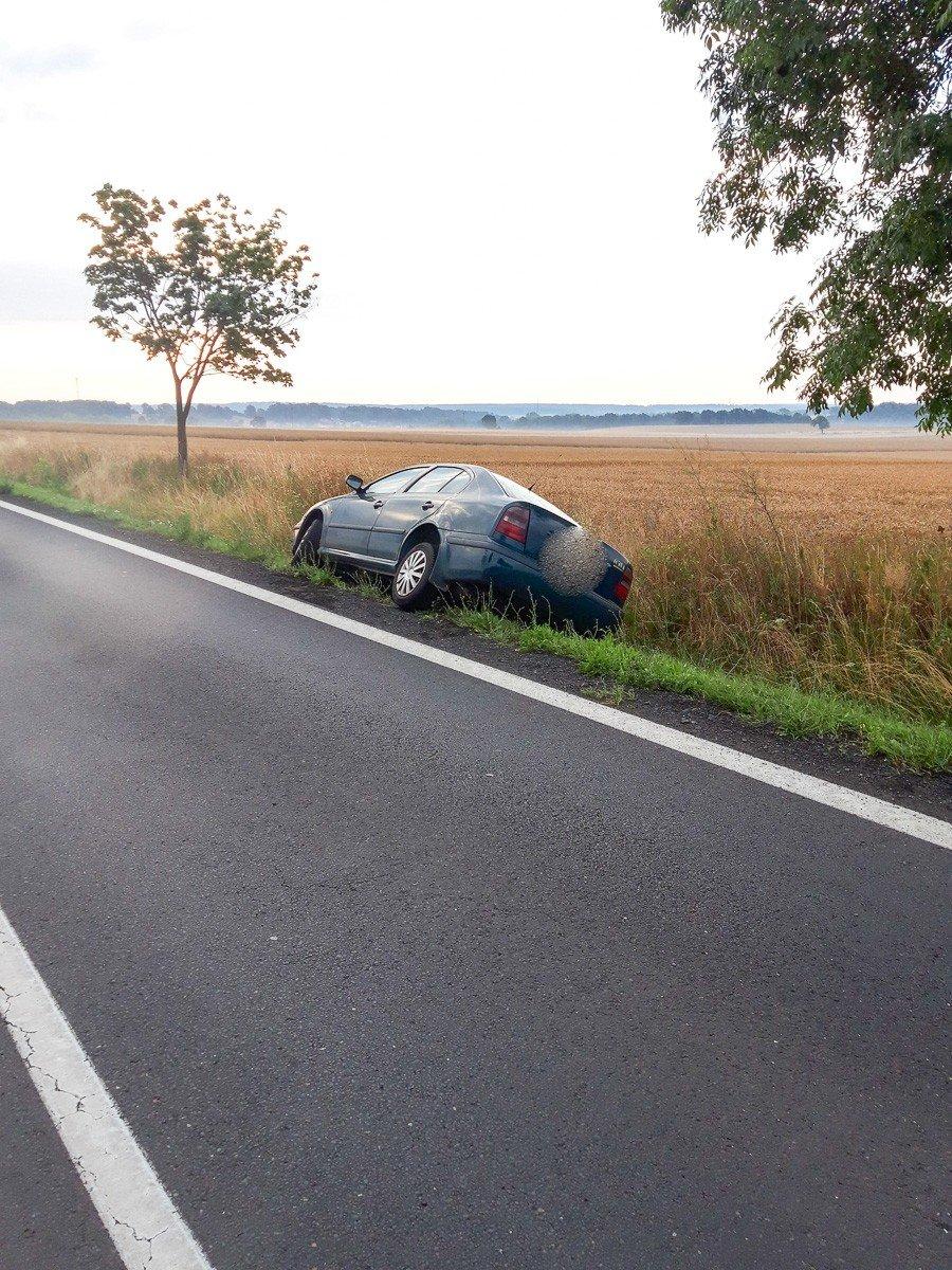 Zdarzenie drogowe między Kruszynem a Tomaszowem Bolesławieckim