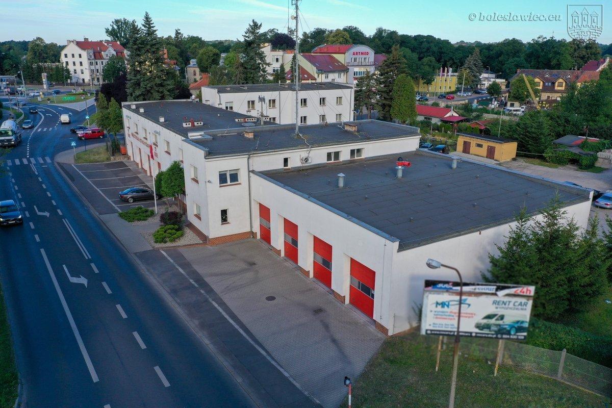 Obecna siedziba KP PSP w Bolesławcu i działka, na której powstanie ta nowa