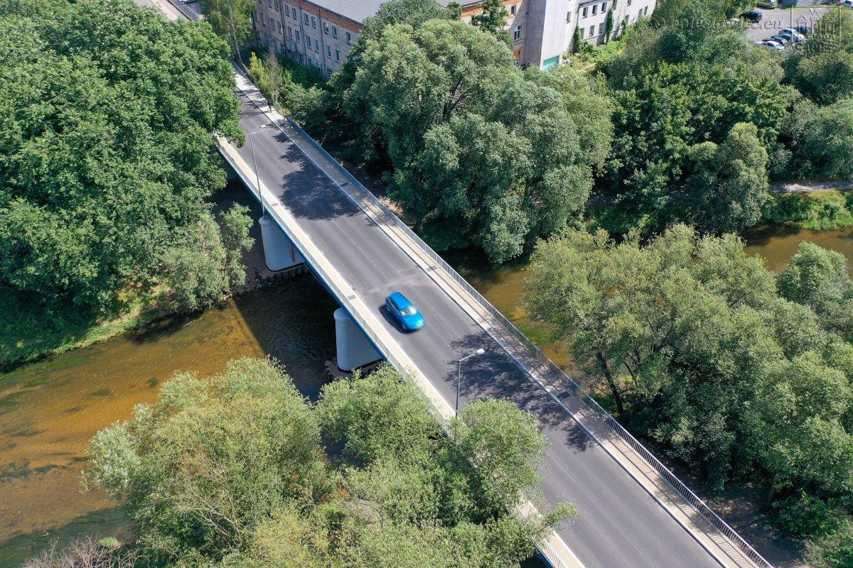 Most przy ulicy Mostowej w Bolesławcu