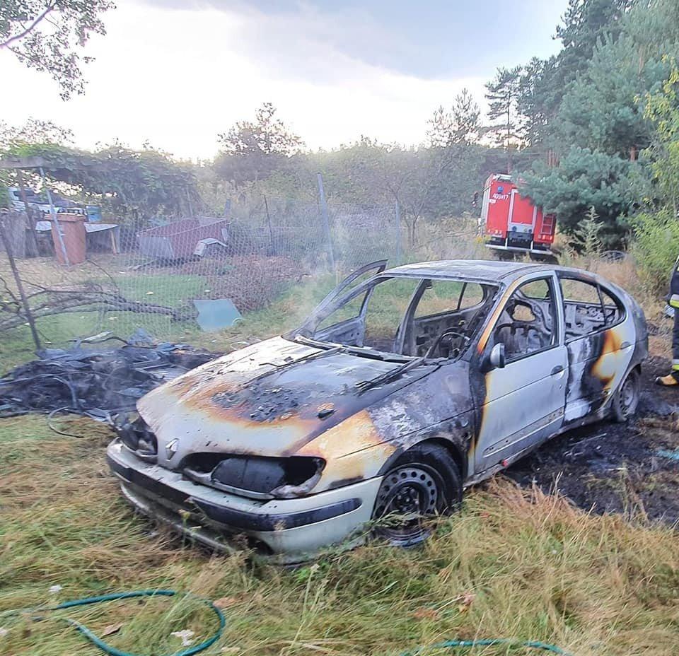 Akcja straży pożarnej w Nowej Wsi (gmina Bolesławiec, powiat bolesławiecki)