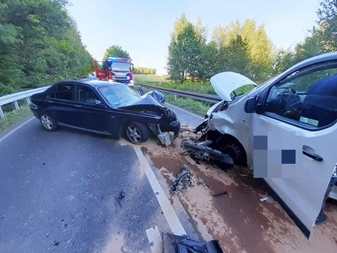 Wypadek koło Suszek