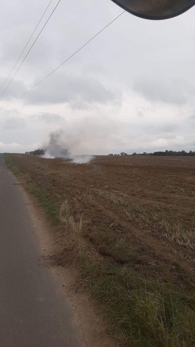 Pożar koło miejscowości Mierzwin (gmina Bolesławiec, powiat bolesławiecki)