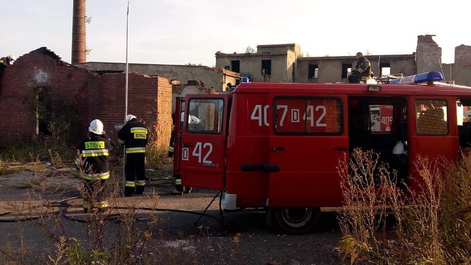 Kolejna interwencja straży w byłej klinkierni w Nowogrodźcu