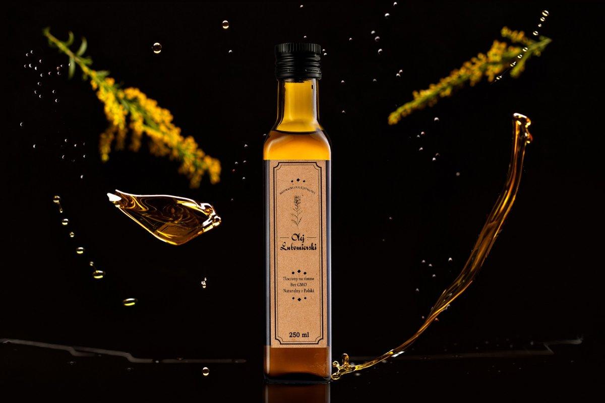 Butelka oleju Lubomierskiego
