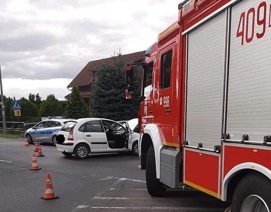 Zderzenie dwóch aut w Ocicach