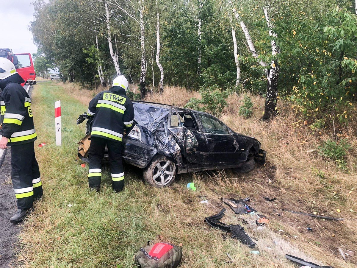 Wypadek między Zebrzydową a Czerną (gmina Nowogrodziec)