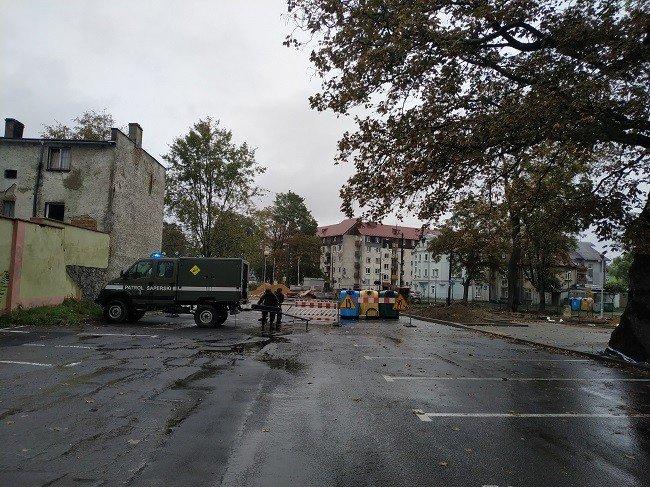 Akcja Patrolu Saperskiego Bolesławiec w centrum Lubania