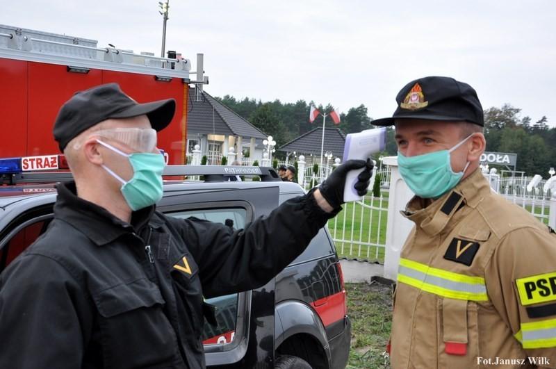 Strażacy w Borach Dolnośląskich. W ćwiczeniach brało udział niemal 110 osób
