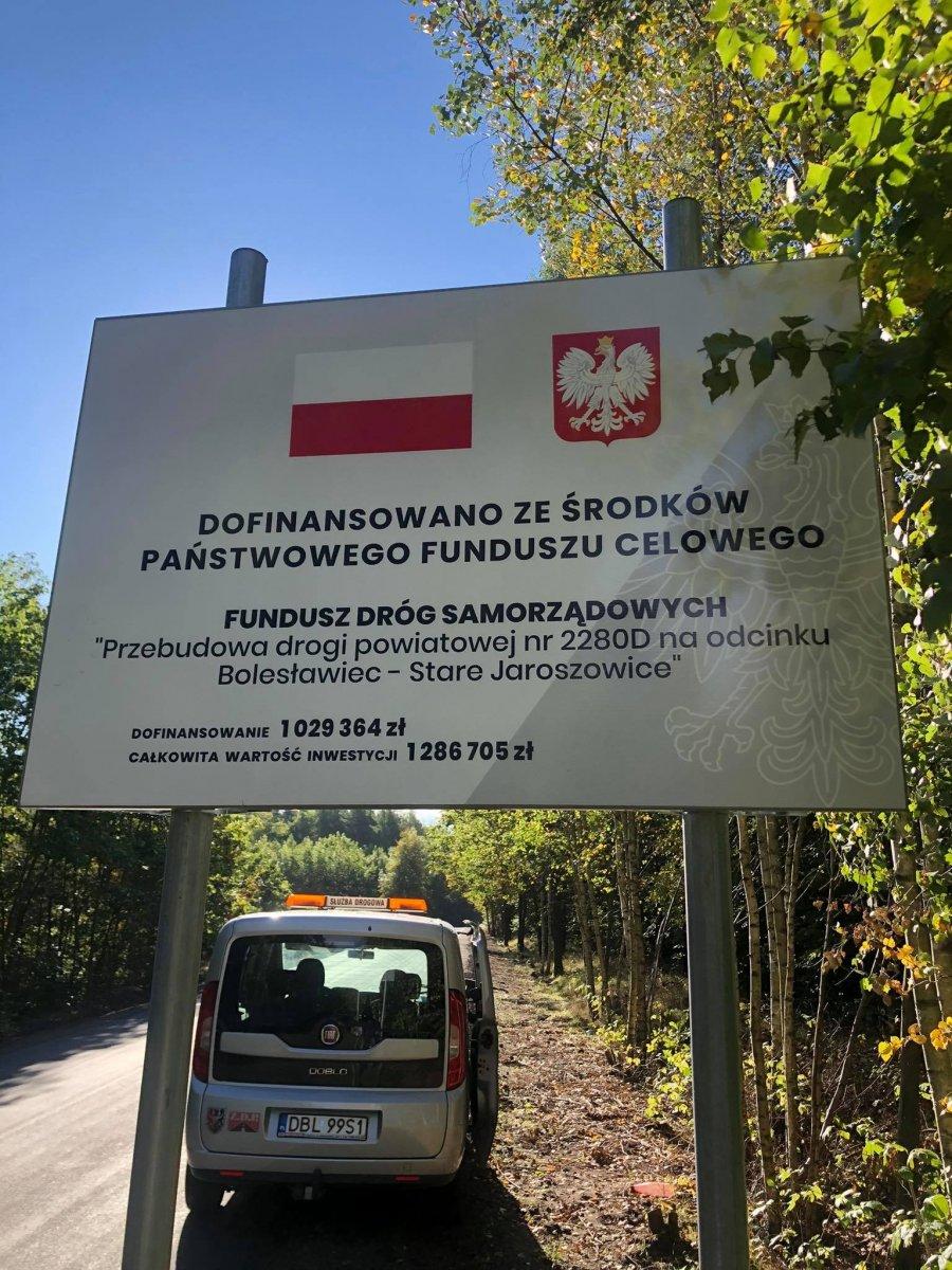 Przebudowa drogi z Bolesławca do Starych Jaroszowic zakończona