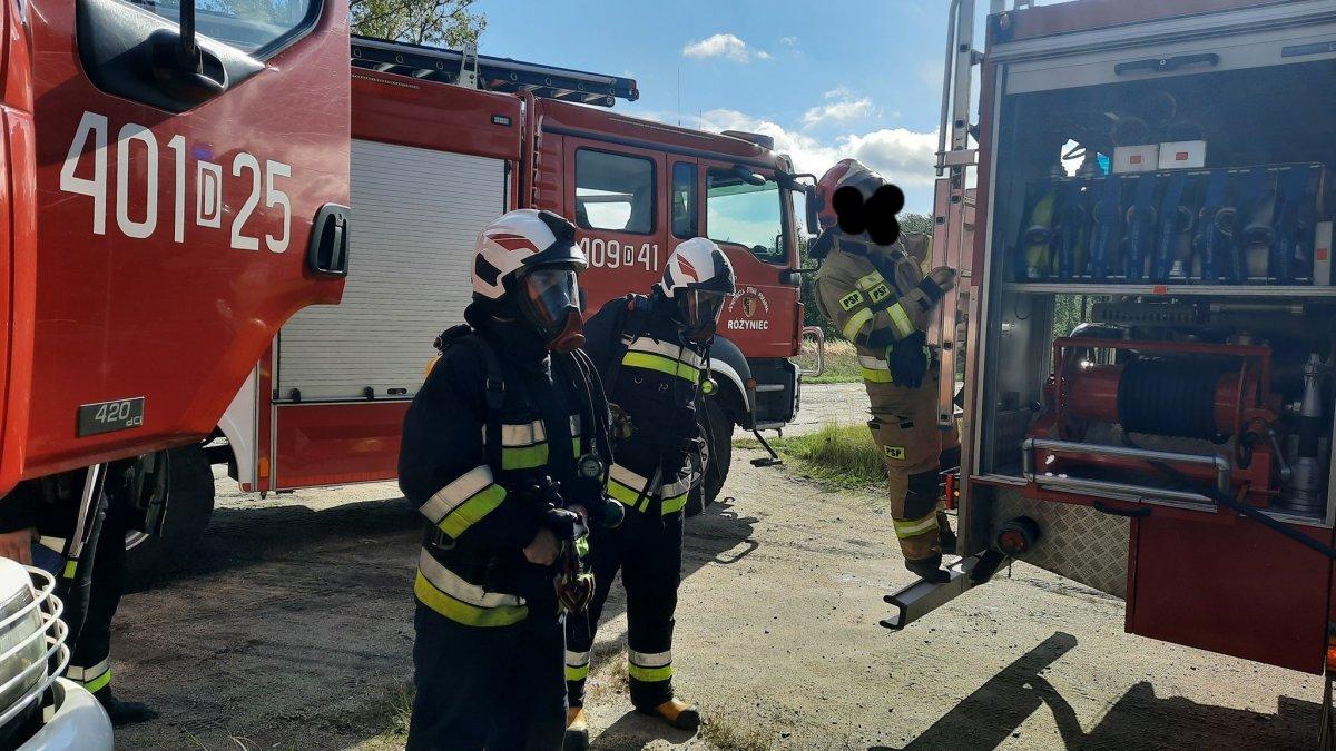 Akcja straży pożarnej na strefie w gminie Gromadka