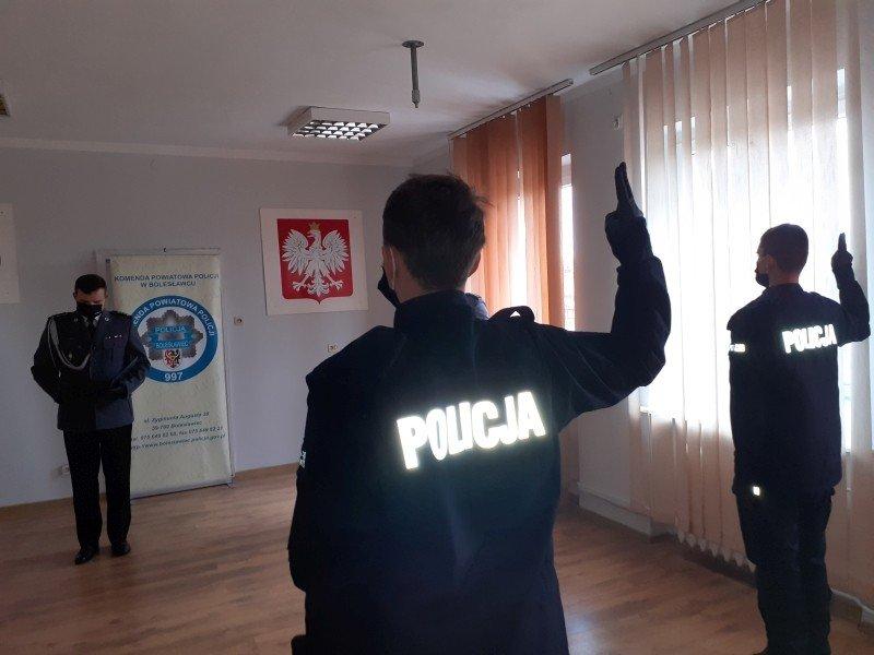 Ślubowanie nowych policjantów z KPP Bolesławiec