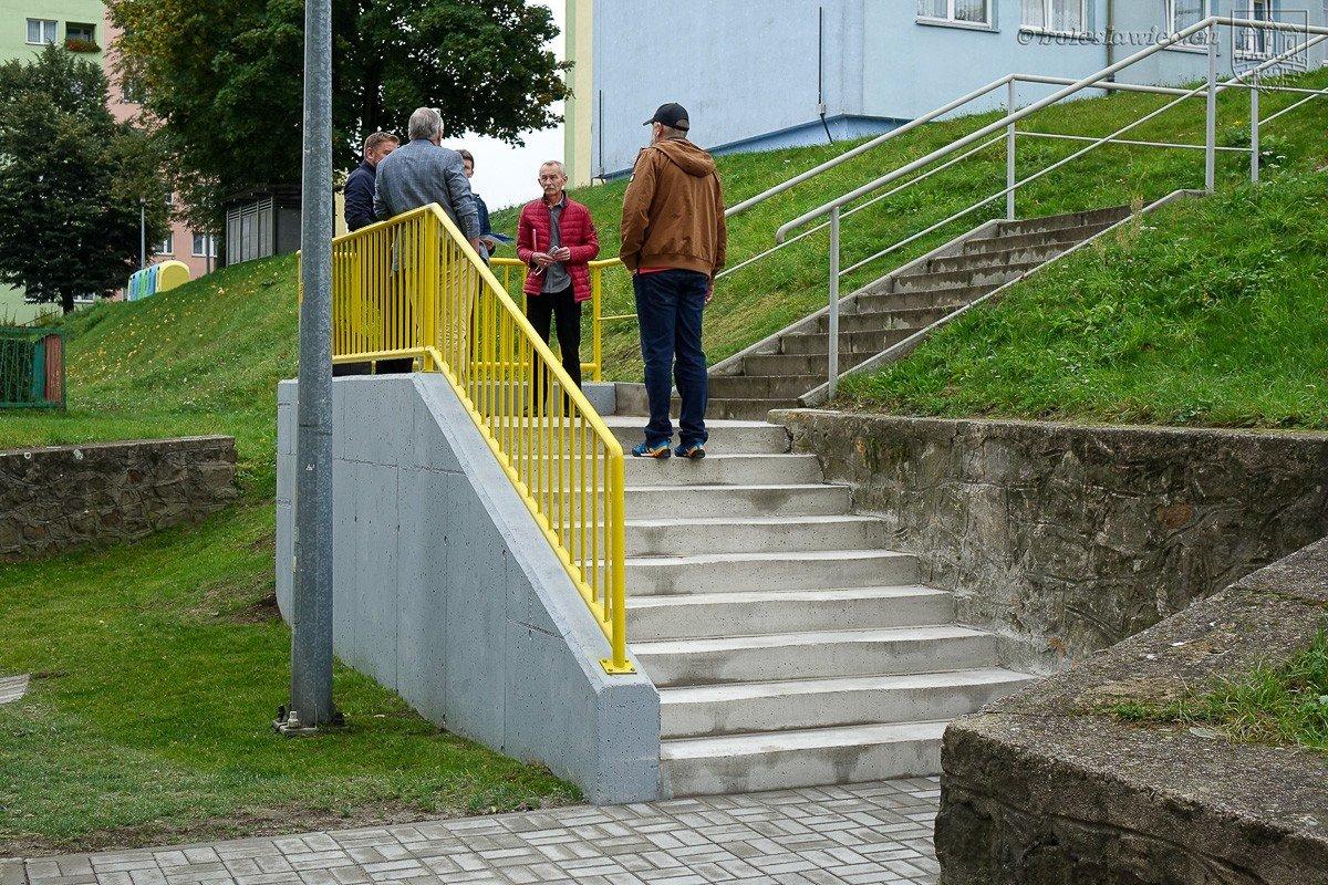 Schody przy ulicy Cichej w Bolesławcu