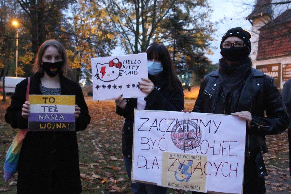Poniedziałkowy protest w Bolesławcu