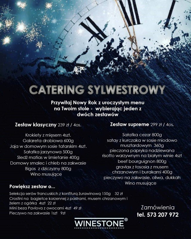 Catering Sylwestrowy od Winestone Bolesławiec