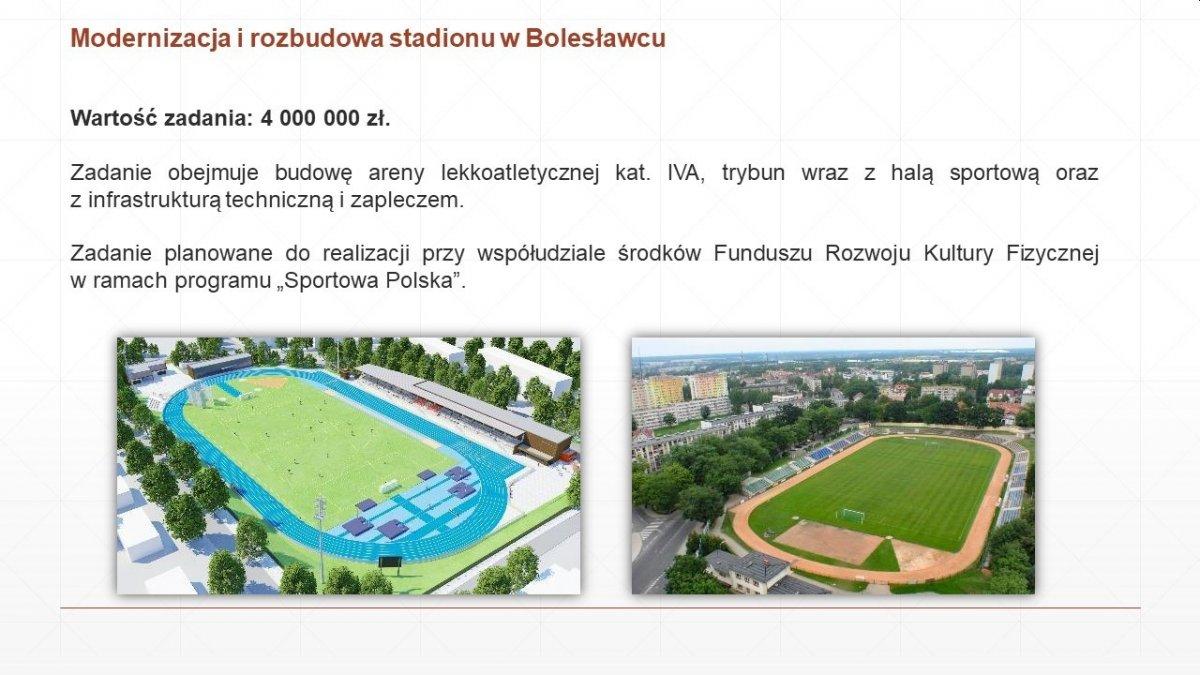 Modernizacja i rozbudowa stadionu miejskiego w Bolesławcu
