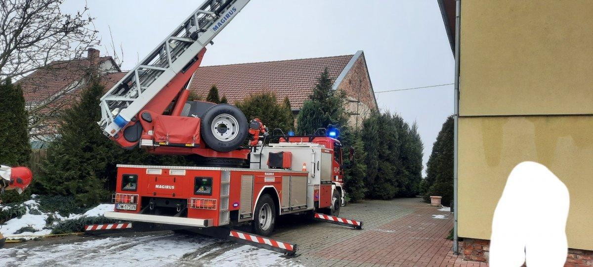 Akcja straży pożarnej w Szczytnicy