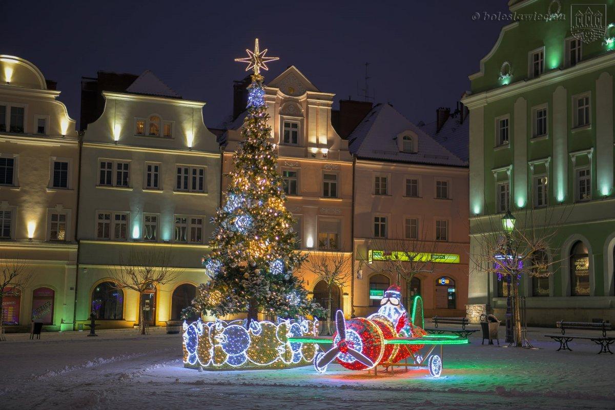 Bolesławiecki Rynek zimą
