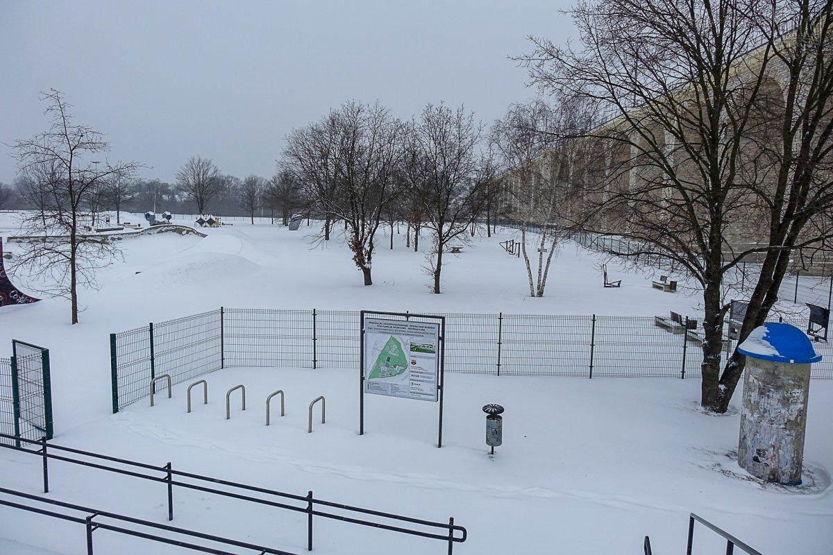 Wiadukt Plaza zimą