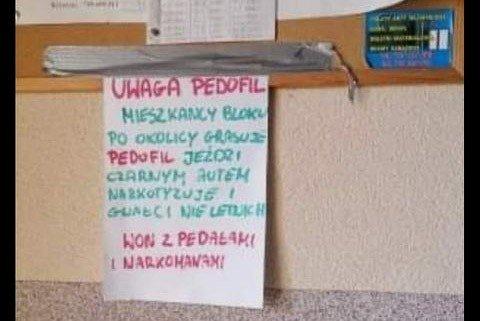 Kartka wywieszona w bloku w Ławszowej