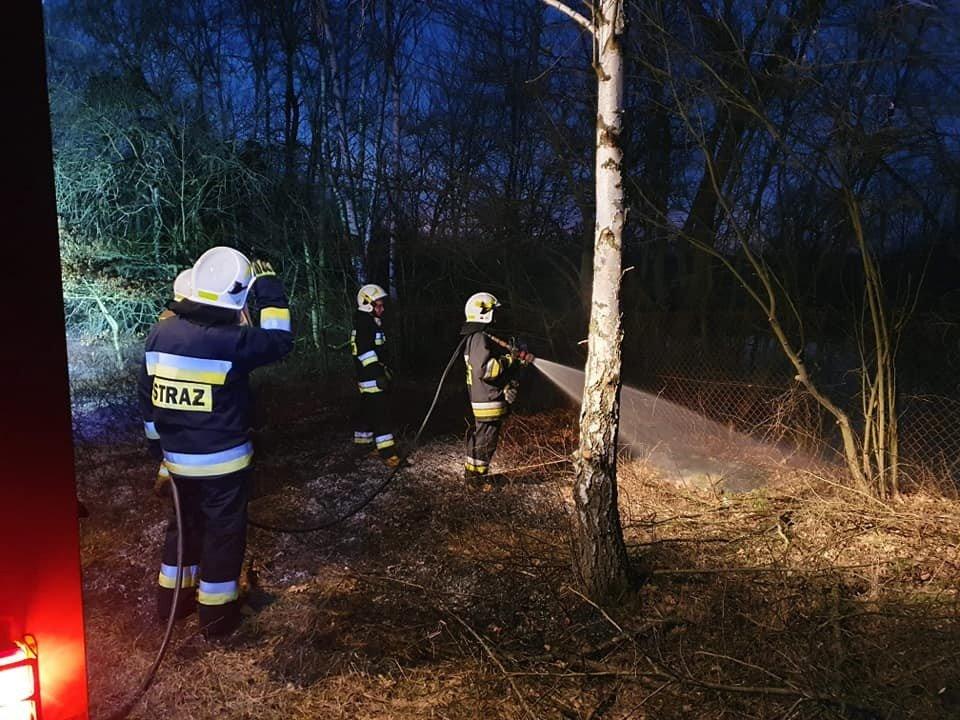 Akcja straży pożarnej w Parkoszowie