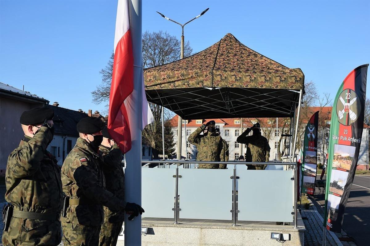 Przysięga elewów w 23 Śląskim Pułku Artylerii