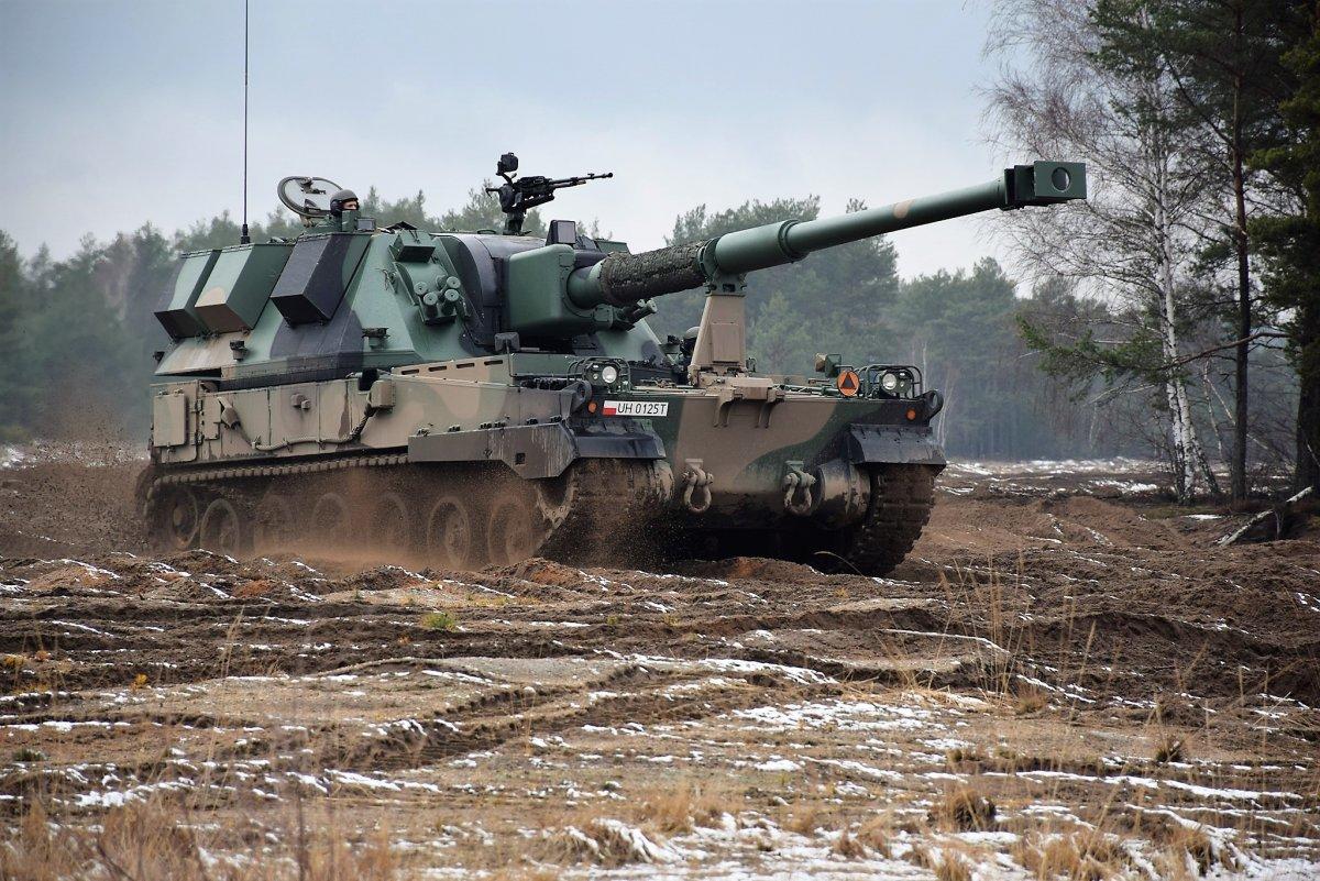 Ćwiczenia wojskowe na poligonie w Żaganiu