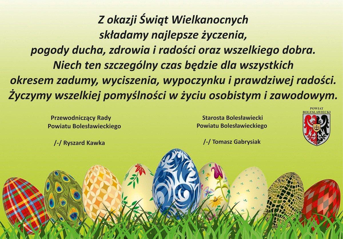 Życzenia od Powiatu Bolesławieckiego
