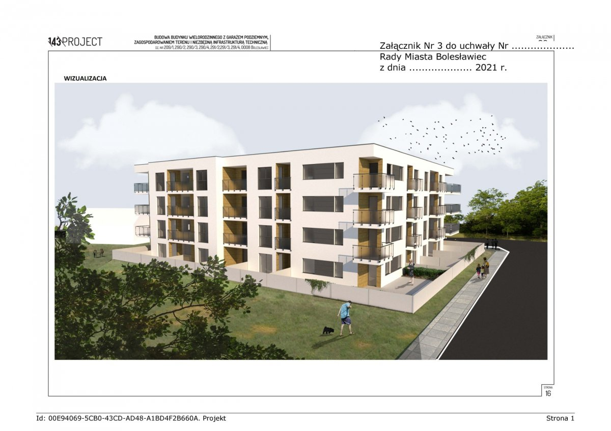 Wizualizacja nowego budynku w Bolesławcu