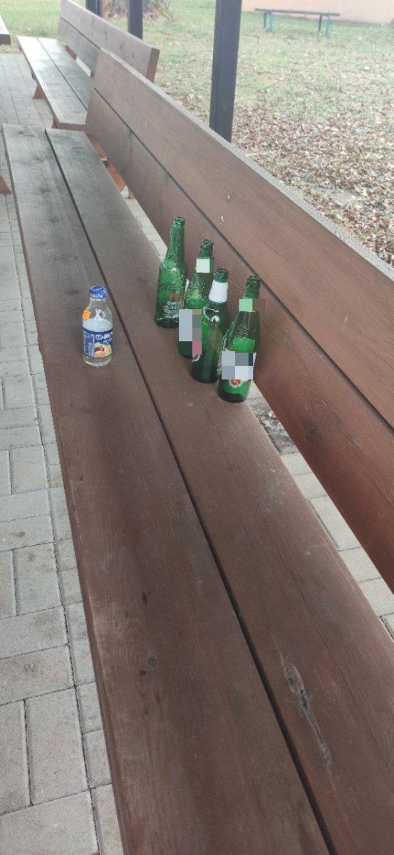 Śmieci między cmentarzem a świetlicą w Zebrzydowej