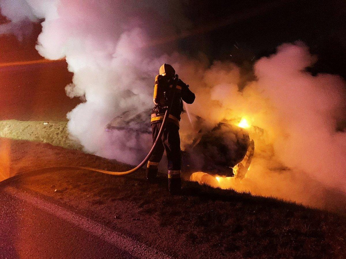 Akcja straży pożarnej między Nowogrodźcem a Zebrzydową