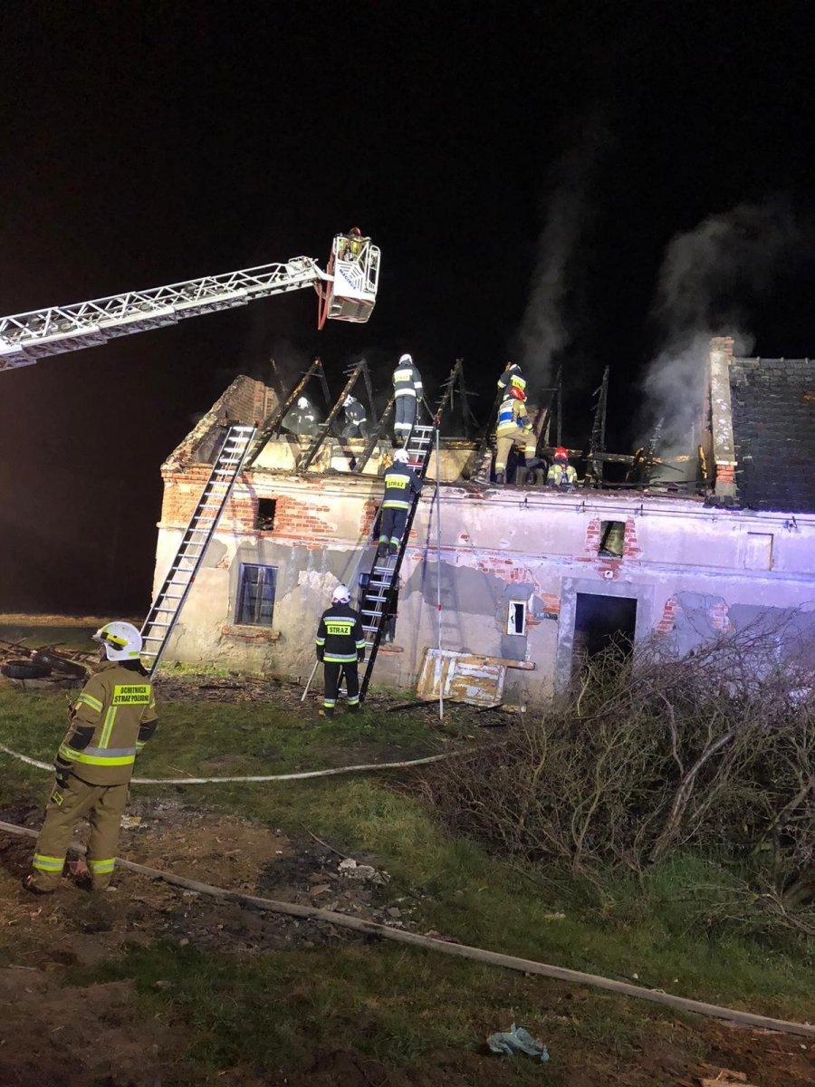 Akcja straży pożarnej w Starej Olesznej