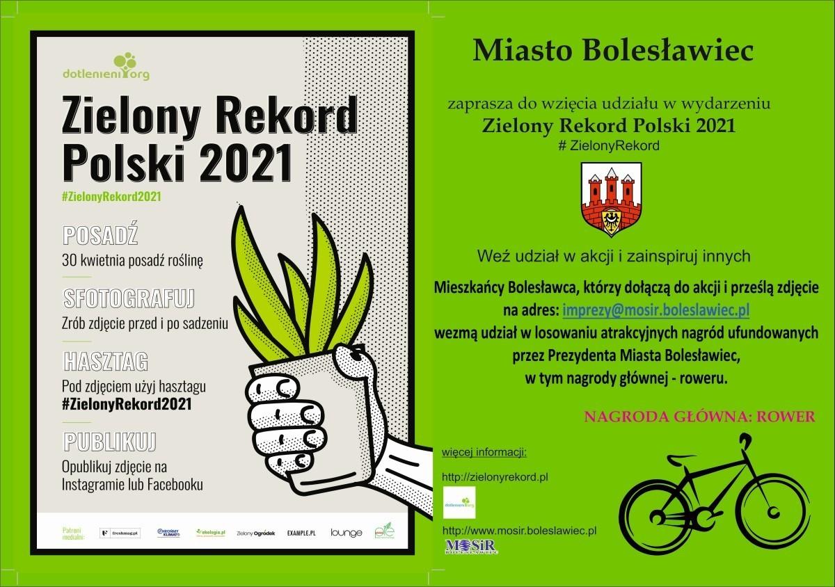 Plakat Zielony Rekord Polski 2021