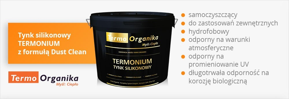 Tynk silikonowy TERMONIUM z formułą Dust Clean