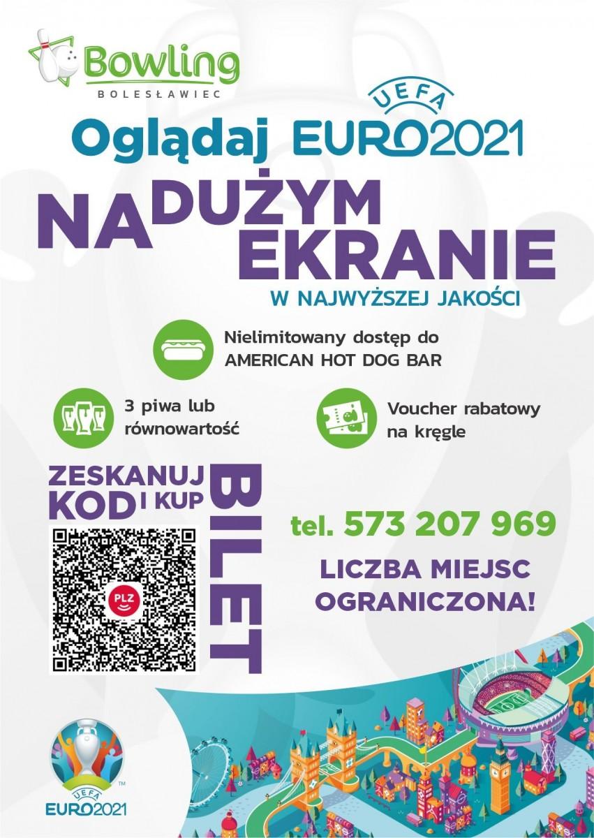 Strefa Kibica Euro2021 w Bowling Bolesławiec