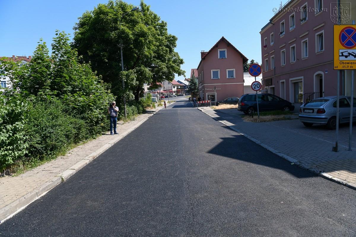 Wyremontowana ulica Górne Młyny w Bolesławcu