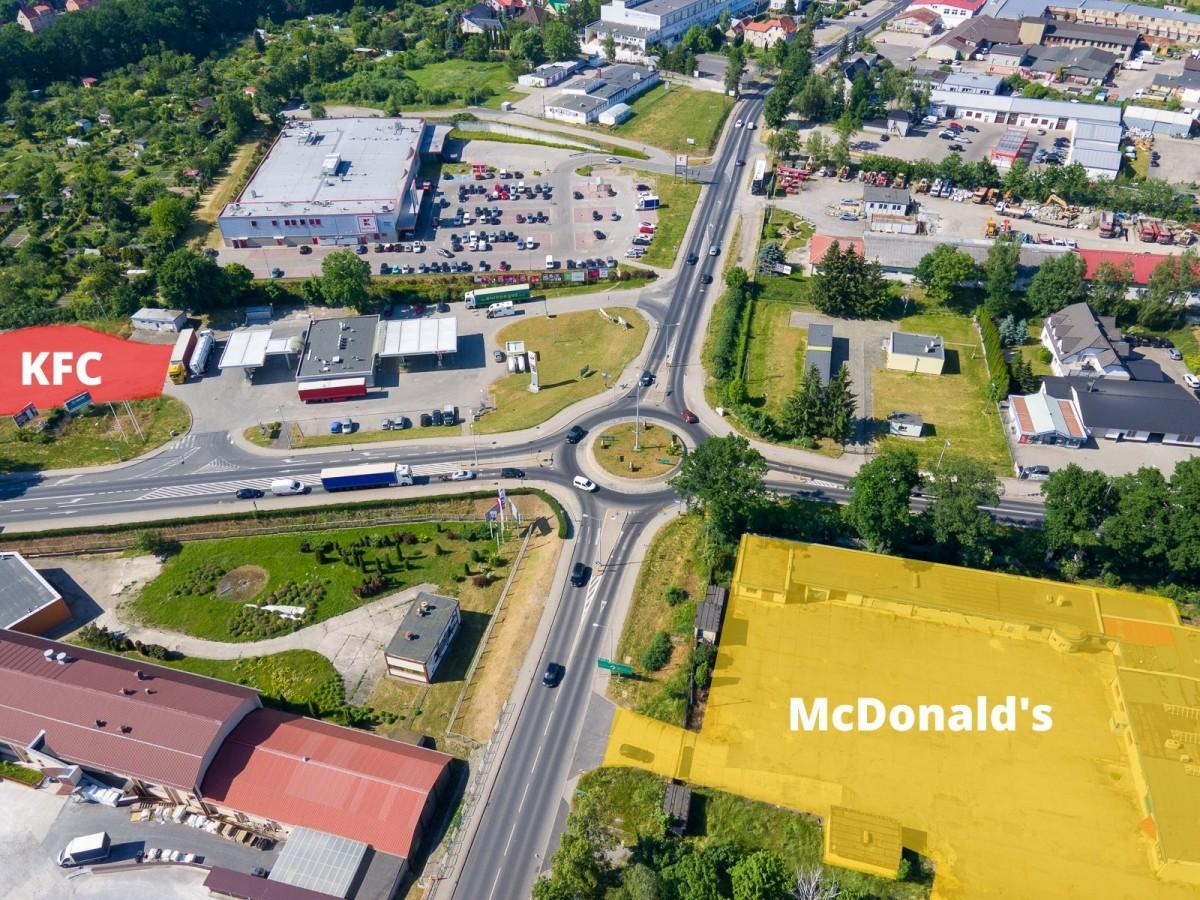 Planowane lokalizacje restauracji KFC i McDonald's w Bolesławcu