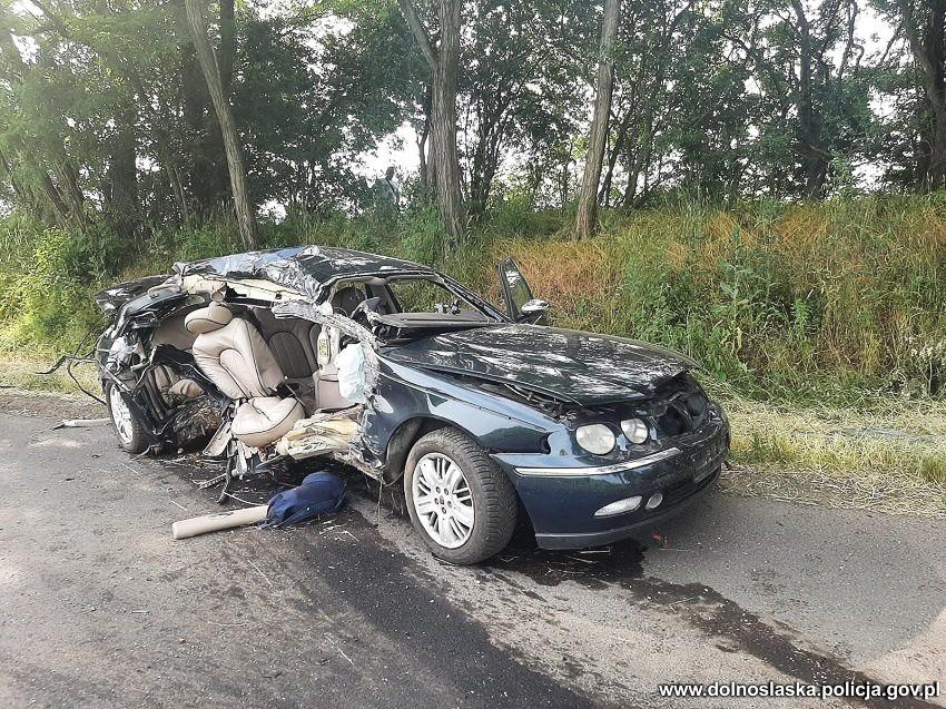 Wypadek w powiecie jaworskim
