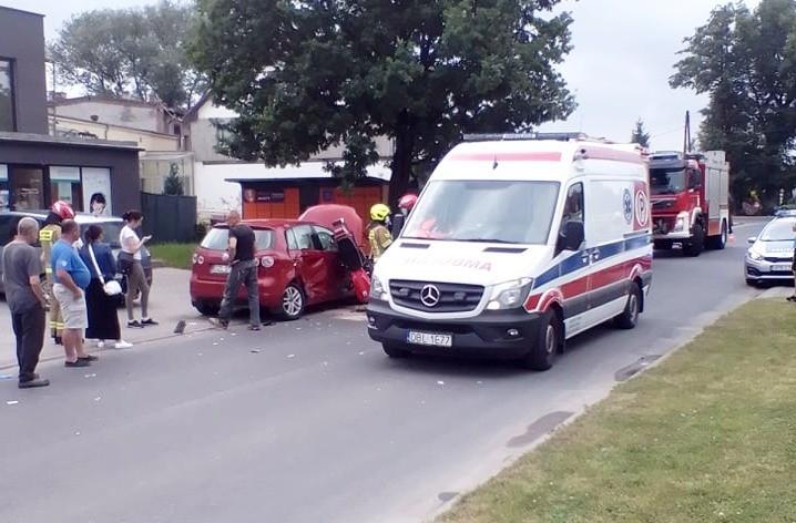 Zderzeni motocykla z autem w Raciborowicach Dolnych