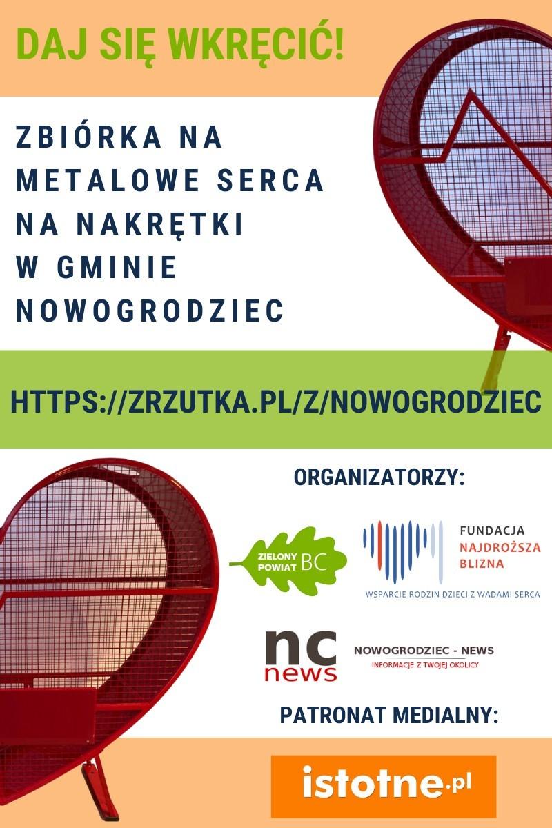 Plakat zrzutki Nowogordziec-news