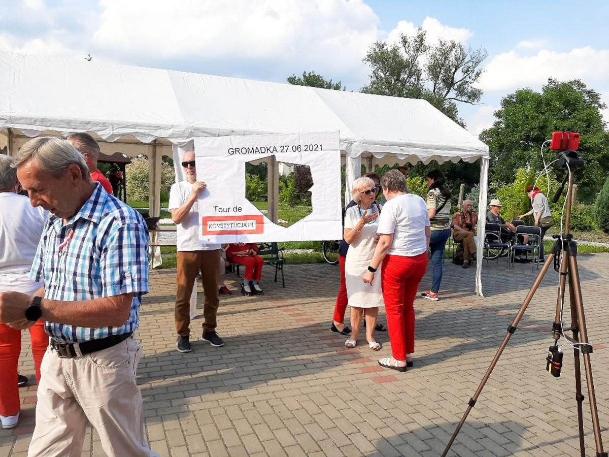 Akcja Tour de Konstytucja w Gromadce