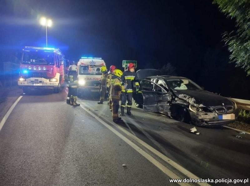 Wypadek w gminie Kamienna Góra