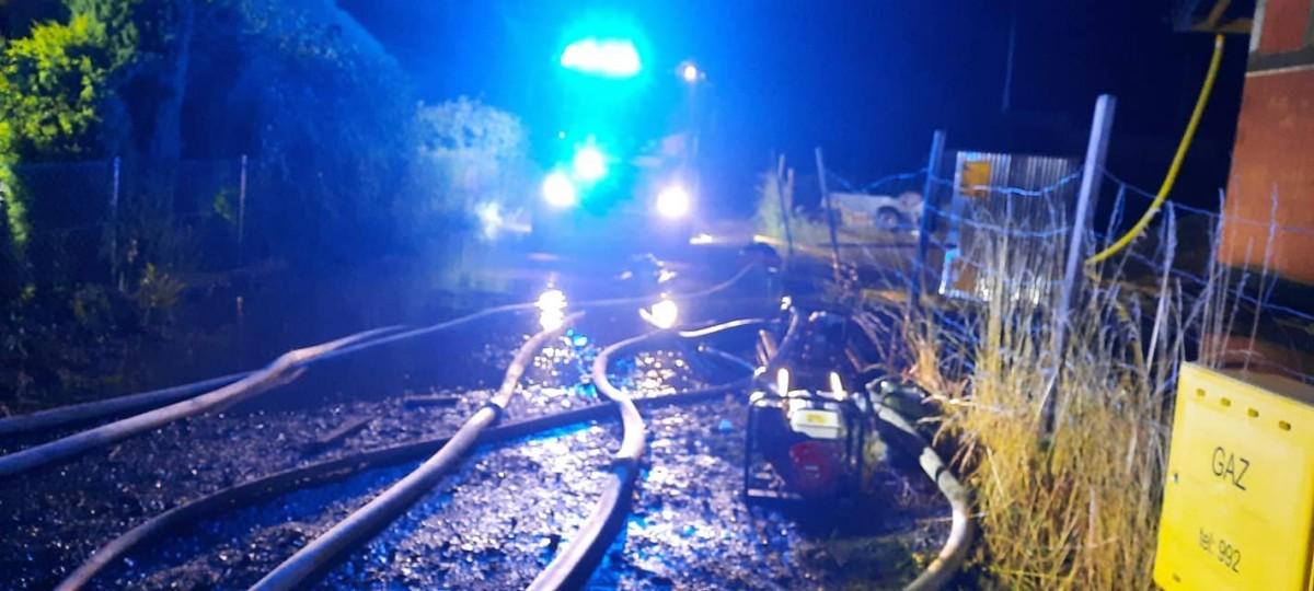 Akcja strażaków w Tomaszowie Bolesławieckim
