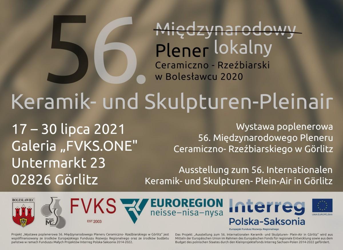Plakat 56. plener ceramiczno-rzeźbiarski